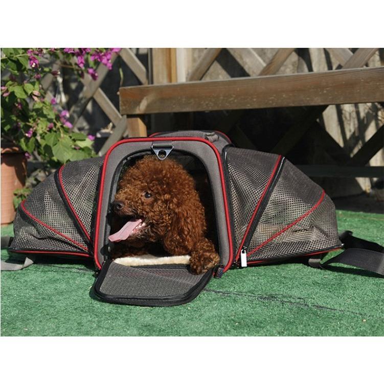 ペット キャリー 拡張可能 通気性抜群 旅行・散歩・通院・お出かけに便利 折りたたみ 小型犬 猫 車載・スリング・手持ち 多機能ペットバッグ S/Mサイズ Panni|panni-fashion|12