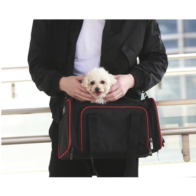 ペット キャリー 拡張可能 通気性抜群 旅行・散歩・通院・お出かけに便利 折りたたみ 小型犬 猫 車載・スリング・手持ち 多機能ペットバッグ S/Mサイズ Panni|panni-fashion|07