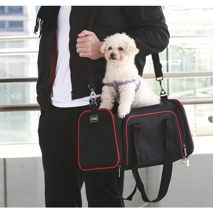 ペット キャリー 拡張可能 通気性抜群 旅行・散歩・通院・お出かけに便利 折りたたみ 小型犬 猫 車載・スリング・手持ち 多機能ペットバッグ S/Mサイズ Panni|panni-fashion|08