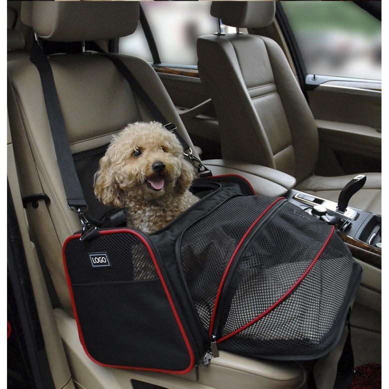 ペット キャリー 拡張可能 通気性抜群 旅行・散歩・通院・お出かけに便利 折りたたみ 小型犬 猫 車載・スリング・手持ち 多機能ペットバッグ S/Mサイズ Panni|panni-fashion|09