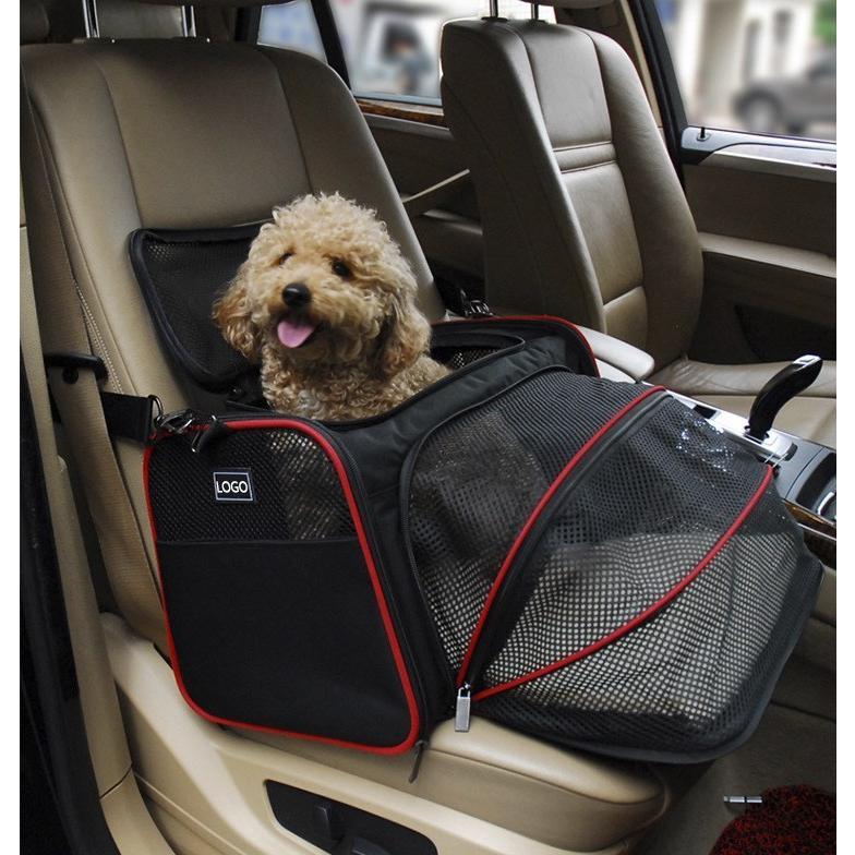 ペット キャリー 拡張可能 通気性抜群 旅行・散歩・通院・お出かけに便利 折りたたみ 小型犬 猫 車載・スリング・手持ち 多機能ペットバッグ S/Mサイズ Panni|panni-fashion|10