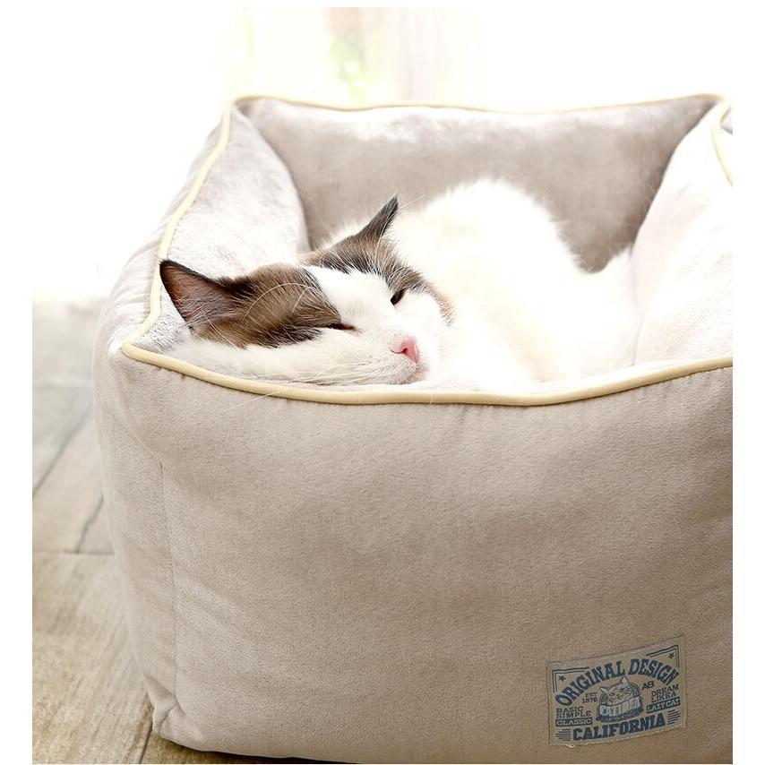 ペットベッド 猫ベッド 冬用 犬ベッド あったか ペット用 クッション 保温防寒 崩れにくい 小型犬 猫用ふわふわ 暖かい キャットハウス 34*34*23 送料無料|panni-fashion|11