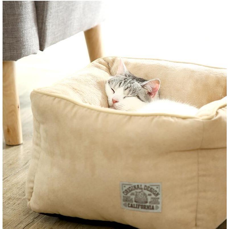 ペットベッド 猫ベッド 冬用 犬ベッド あったか ペット用 クッション 保温防寒 崩れにくい 小型犬 猫用ふわふわ 暖かい キャットハウス 34*34*23 送料無料|panni-fashion|12