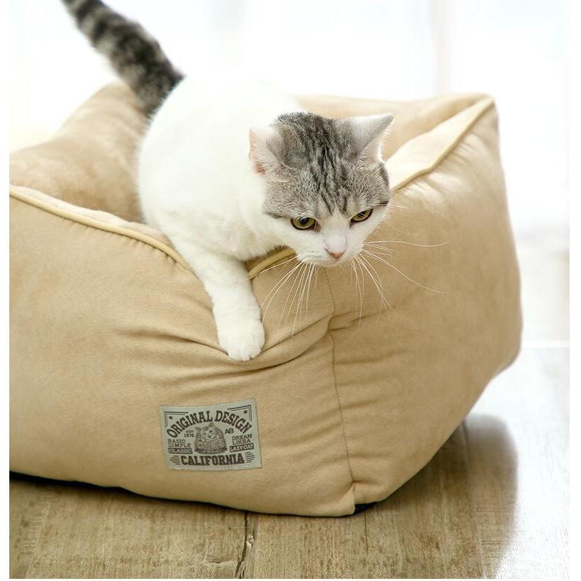 ペットベッド 猫ベッド 冬用 犬ベッド あったか ペット用 クッション 保温防寒 崩れにくい 小型犬 猫用ふわふわ 暖かい キャットハウス 34*34*23 送料無料|panni-fashion|13