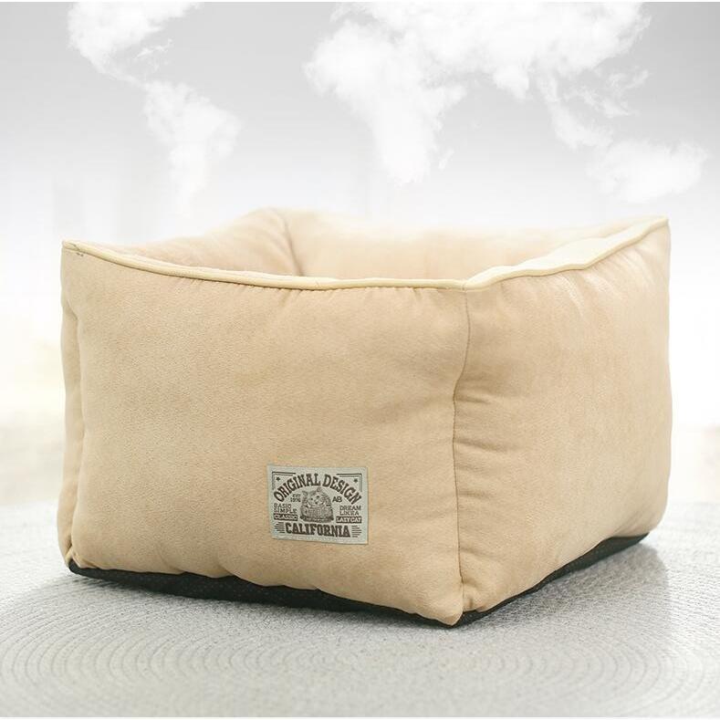 ペットベッド 猫ベッド 冬用 犬ベッド あったか ペット用 クッション 保温防寒 崩れにくい 小型犬 猫用ふわふわ 暖かい キャットハウス 34*34*23 送料無料|panni-fashion|19