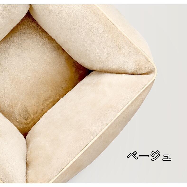 ペットベッド 猫ベッド 冬用 犬ベッド あったか ペット用 クッション 保温防寒 崩れにくい 小型犬 猫用ふわふわ 暖かい キャットハウス 34*34*23 送料無料|panni-fashion|20