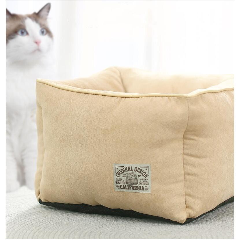 ペットベッド 猫ベッド 冬用 犬ベッド あったか ペット用 クッション 保温防寒 崩れにくい 小型犬 猫用ふわふわ 暖かい キャットハウス 34*34*23 送料無料|panni-fashion|03