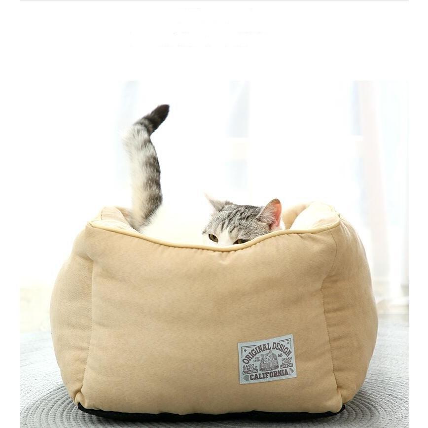 ペットベッド 猫ベッド 冬用 犬ベッド あったか ペット用 クッション 保温防寒 崩れにくい 小型犬 猫用ふわふわ 暖かい キャットハウス 34*34*23 送料無料|panni-fashion|04