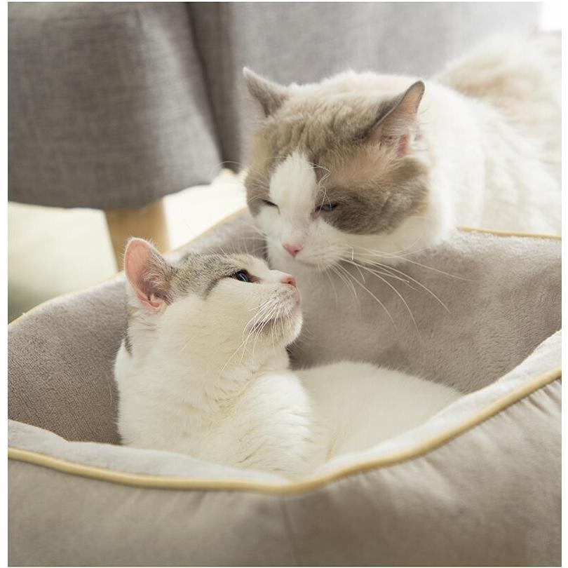ペットベッド 猫ベッド 冬用 犬ベッド あったか ペット用 クッション 保温防寒 崩れにくい 小型犬 猫用ふわふわ 暖かい キャットハウス 34*34*23 送料無料|panni-fashion|07