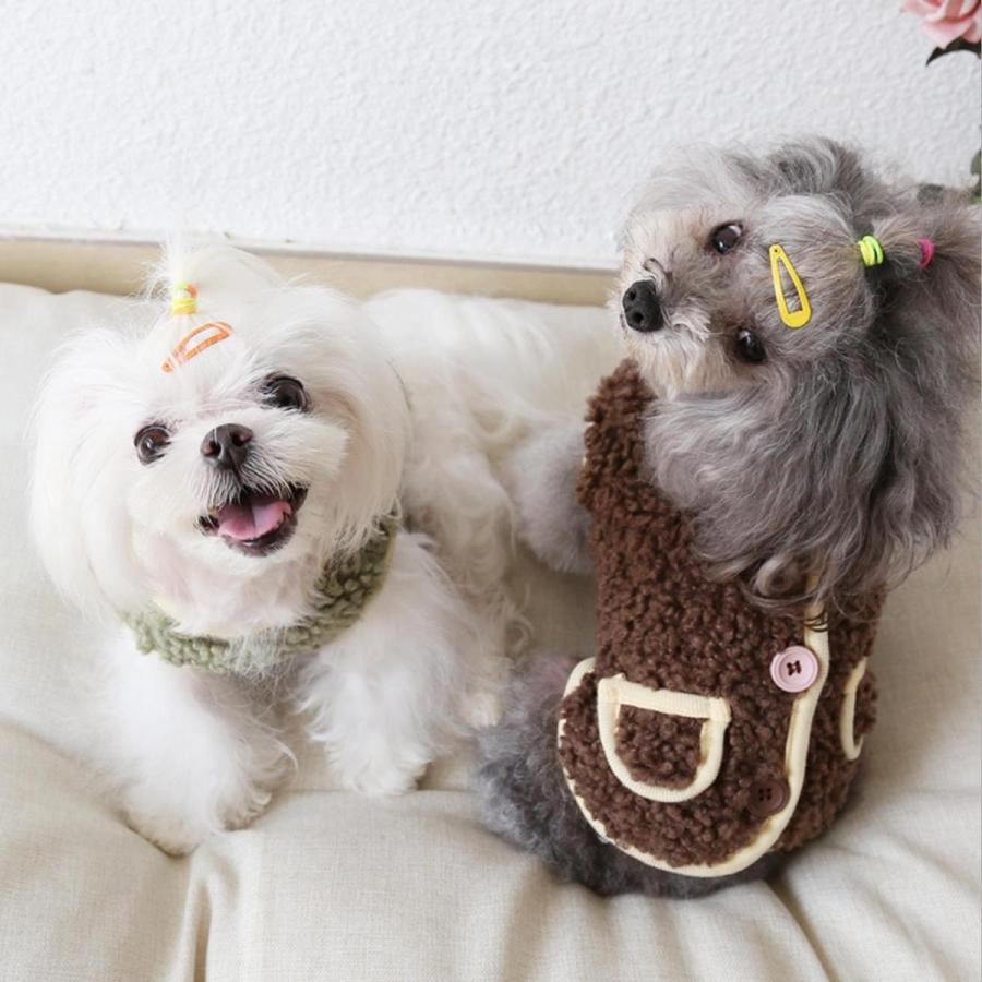 犬の服 秋冬 ドッグウェア 犬 服  防寒 もこもこ 暖かい 可愛い 二足 小型犬 中型犬 選べる XS S M L XL Petstyle 送料無料|panni-fashion|02