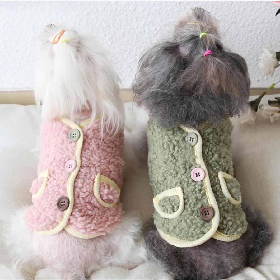 犬の服 秋冬 ドッグウェア 犬 服  防寒 もこもこ 暖かい 可愛い 二足 小型犬 中型犬 選べる XS S M L XL Petstyle 送料無料|panni-fashion|03