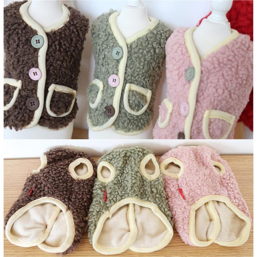 犬の服 秋冬 ドッグウェア 犬 服  防寒 もこもこ 暖かい 可愛い 二足 小型犬 中型犬 選べる XS S M L XL Petstyle 送料無料|panni-fashion|10