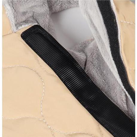 ドッグウェア 秋 冬 可愛い 犬服 おしゃれ ダウン風ベスト フック付き服 お出かけ ジャケット コート リードフック付き バックルコート 小型犬 中型犬 老犬|panni-fashion|06