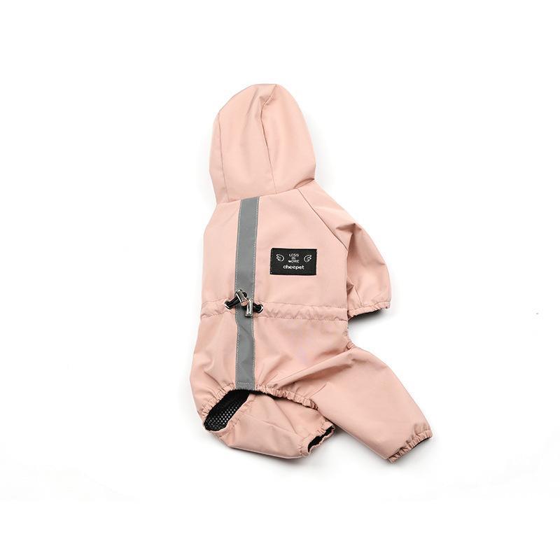 ペット服 ドッグウェア レインコート 犬の服 犬服 雨服 雨具 パーカー フード付き 四足 小中型犬用 雨の日 防水 雨具 お散歩 梅雨対策 メール便 着脱簡単|panni-fashion|15
