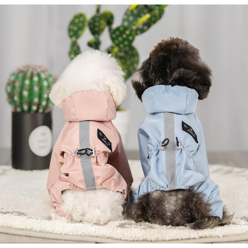ペット服 ドッグウェア レインコート 犬の服 犬服 雨服 雨具 パーカー フード付き 四足 小中型犬用 雨の日 防水 雨具 お散歩 梅雨対策 メール便 着脱簡単|panni-fashion|05