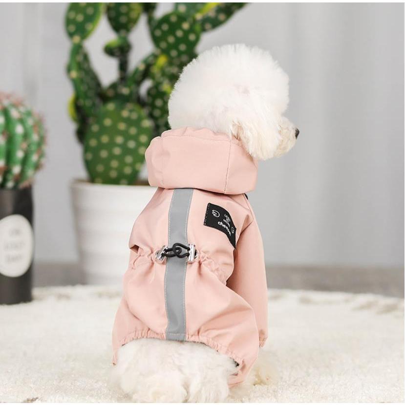 ペット服 ドッグウェア レインコート 犬の服 犬服 雨服 雨具 パーカー フード付き 四足 小中型犬用 雨の日 防水 雨具 お散歩 梅雨対策 メール便 着脱簡単|panni-fashion|08