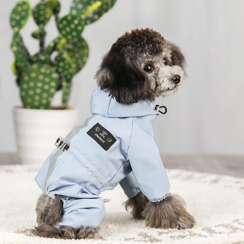 ペット服 ドッグウェア レインコート 犬の服 犬服 雨服 雨具 パーカー フード付き 四足 小中型犬用 雨の日 防水 雨具 お散歩 梅雨対策 メール便 着脱簡単|panni-fashion|09