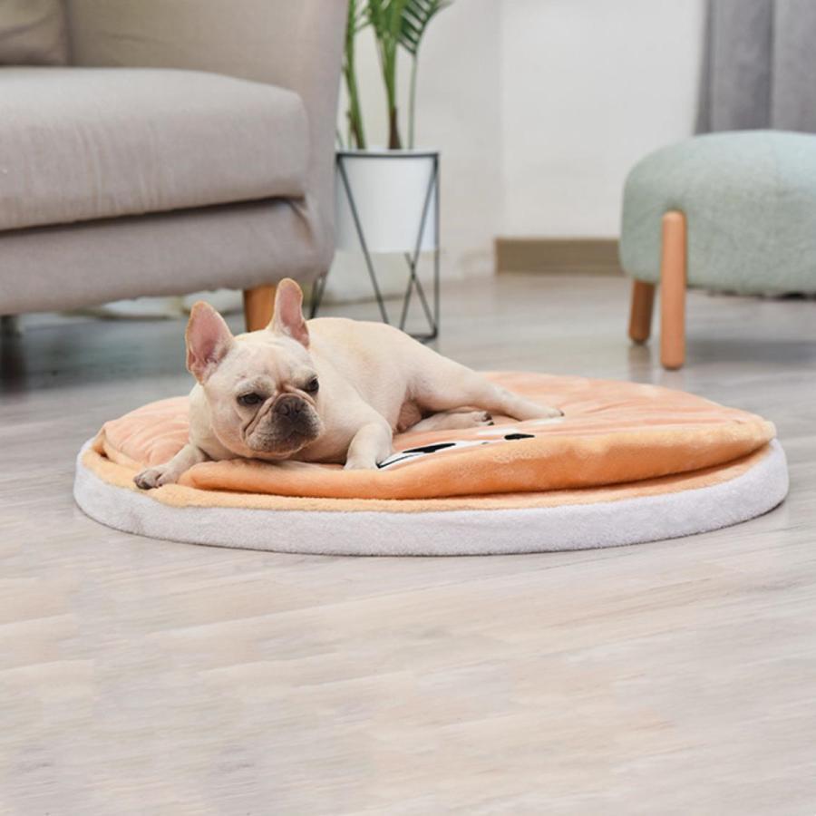ペット ベッド 犬用 ベッド クッション ベッドクッション 柴犬 大人気 もこもこ ふわふわ 柔らかい 月3日再入荷 防寒保温 送料無料|panni-fashion|02