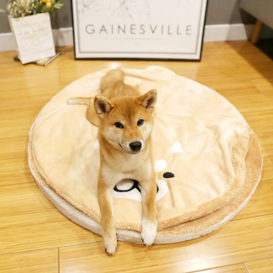 ペット ベッド 犬用 ベッド クッション ベッドクッション 柴犬 大人気 もこもこ ふわふわ 柔らかい 月3日再入荷 防寒保温 送料無料|panni-fashion|09