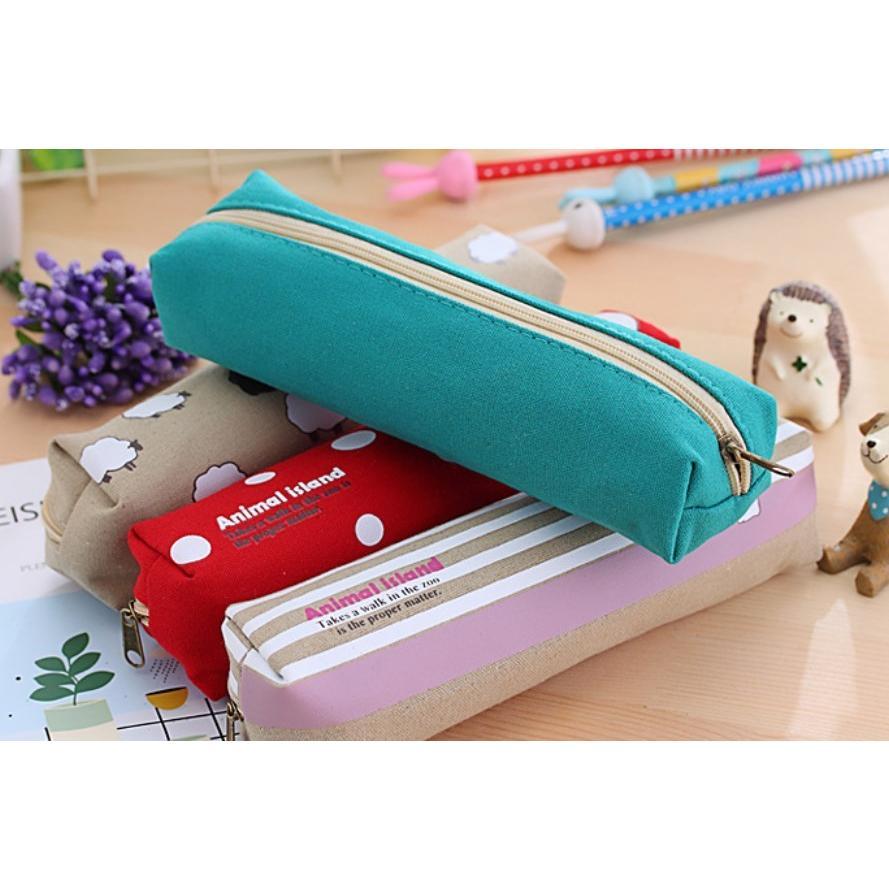 ペンケース 筆箱 可愛い 持ち歩き 便利 小学生 中学生 キャンバス オフィス OL 送料無料 Panni|panni-fashion|12