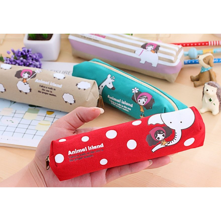 ペンケース 筆箱 可愛い 持ち歩き 便利 小学生 中学生 キャンバス オフィス OL 送料無料 Panni|panni-fashion|13