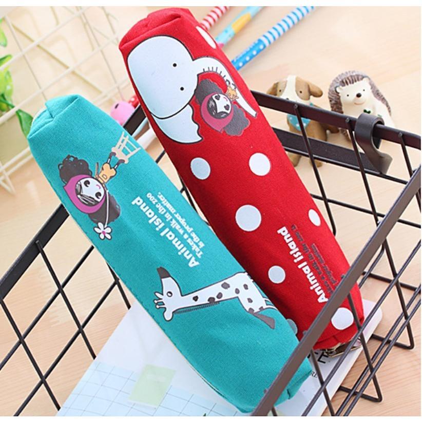 ペンケース 筆箱 可愛い 持ち歩き 便利 小学生 中学生 キャンバス オフィス OL 送料無料 Panni|panni-fashion|14