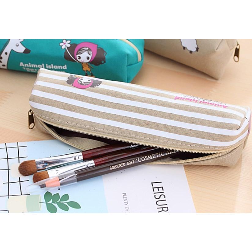 ペンケース 筆箱 可愛い 持ち歩き 便利 小学生 中学生 キャンバス オフィス OL 送料無料 Panni|panni-fashion|05