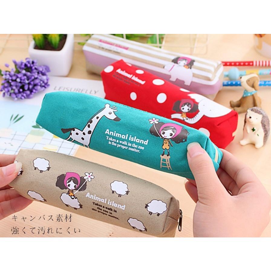 ペンケース 筆箱 可愛い 持ち歩き 便利 小学生 中学生 キャンバス オフィス OL 送料無料 Panni|panni-fashion|07