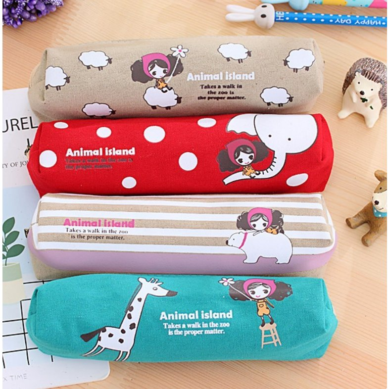 ペンケース 筆箱 可愛い 持ち歩き 便利 小学生 中学生 キャンバス オフィス OL 送料無料 Panni|panni-fashion|10