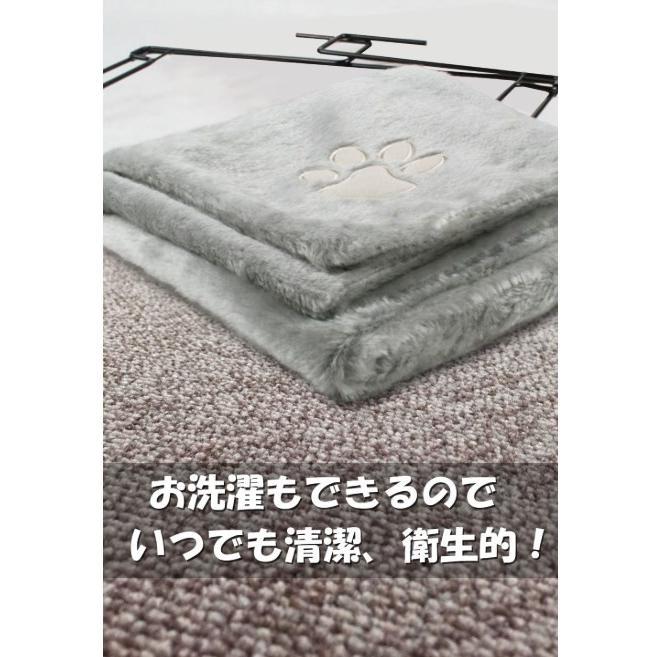 ペット ハンモック 猫 ねこ ネコ お昼寝 ベッド マット 手すりや椅子にワイヤーフックで引っかけるタイプ|panni123|03