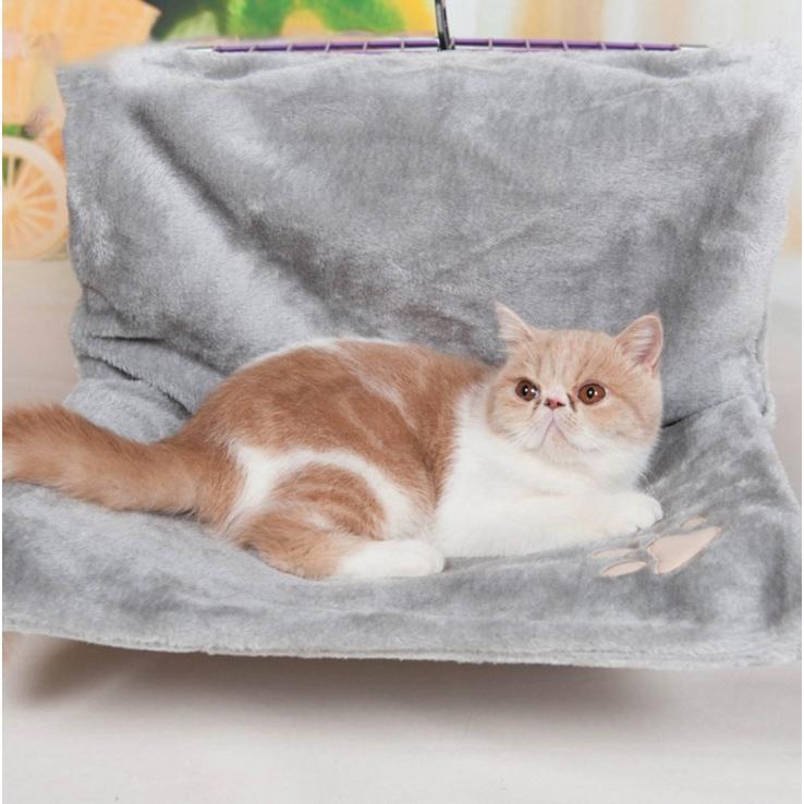ペット ハンモック 猫 ねこ ネコ お昼寝 ベッド マット 手すりや椅子にワイヤーフックで引っかけるタイプ|panni123|04