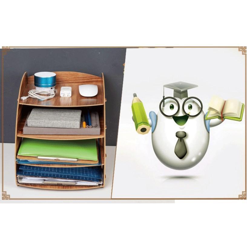 卓上 収納 ボックス レターケース 深型 A4サイズ 木製 卓上ラック 机上棚 組み立て式 多機能 送料無料|panni2-shop|02