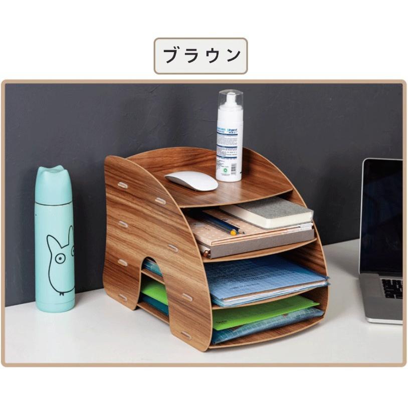 卓上 収納 ボックス レターケース 深型 A4サイズ 木製 卓上ラック 机上棚 組み立て式 多機能 送料無料|panni2-shop|11