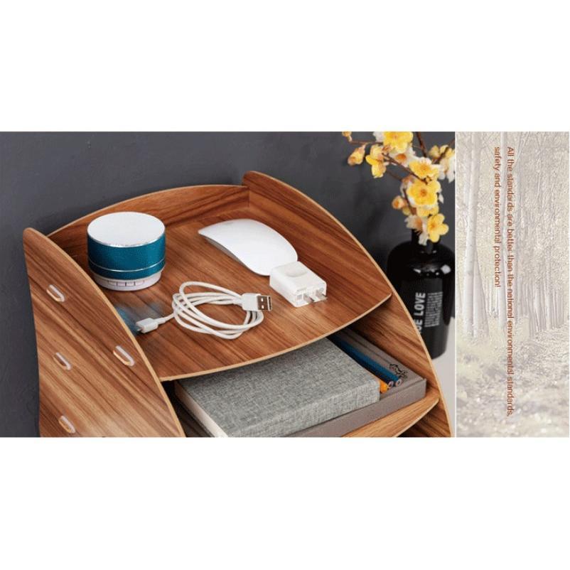 卓上 収納 ボックス レターケース 深型 A4サイズ 木製 卓上ラック 机上棚 組み立て式 多機能 送料無料|panni2-shop|05