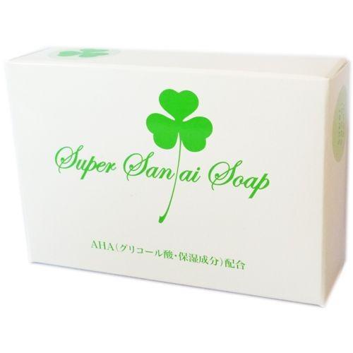 在庫処分 スーパー サンアイ ソープ ピーリング石鹸 入荷予定 洗顔石鹸 100g SuperSanaiSoap