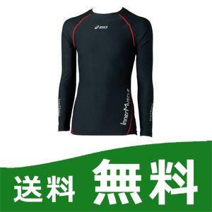 インナーマッスル(肩バランス) メンズ LSシャツ ブラック/レッド O XA3020