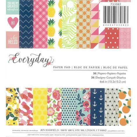 American Crafts アメリカンクラフト Everyday 低価格 ペーパーパッド 6x6インチ 733082 クロップ デサインペーパー 別倉庫からの配送 パイナップル 夏 レモン カード