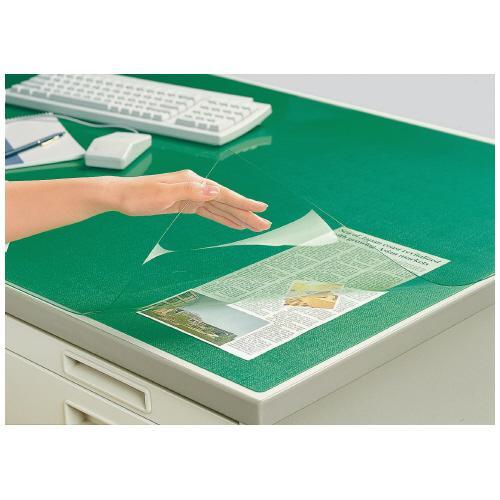 コクヨ マ-1207NG デスクマット軟質Wエコノミー 塩ビ製 好評 下敷き付 透明 直営店 1000×700デスク用 緑