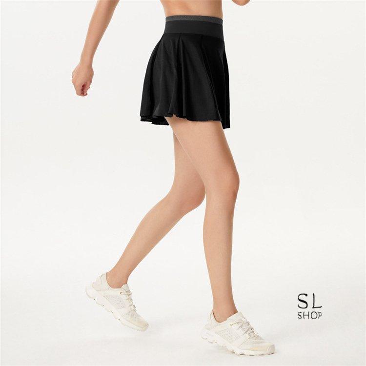 スカートレディースランニングスカートテニススポーツウェアヨガ裏パンツ有トレーニングフェイクレイヤード|paradisekiwi|21