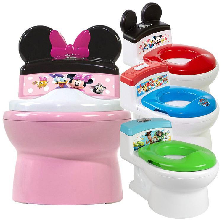 子供用トイレ ディズニー ミッキーマウス ミニーマウス パウパトロール トイレトレーニング 補助便座付きおまる お得 新作 人気 2-in-1 おまる