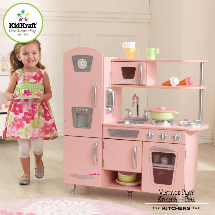 キッドクラフト ビンテージ キッチン ピンク おままごと おもちゃ 木製 子供 KidKraft 53179