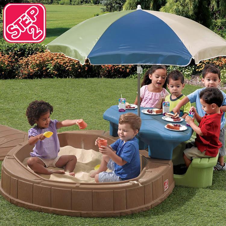 砂場 屋根付き テーブル付き 大きい すなば STEP2 サマータイム プレイセンター STEP2 843700 /配送区分C