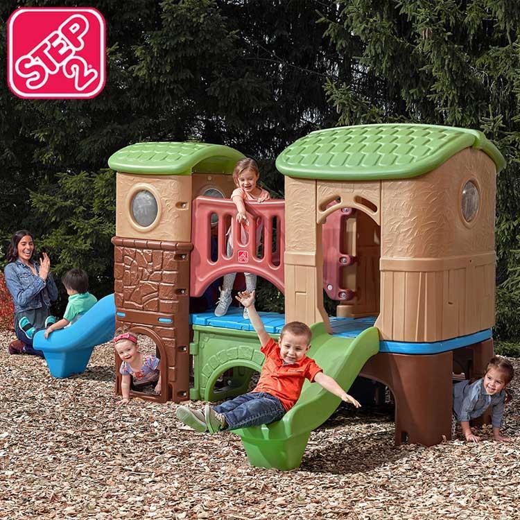 大型遊具 クラブハウス クライマー ジャングルジム すべりだい ステップ2 STEP2 801200 /配送区分C