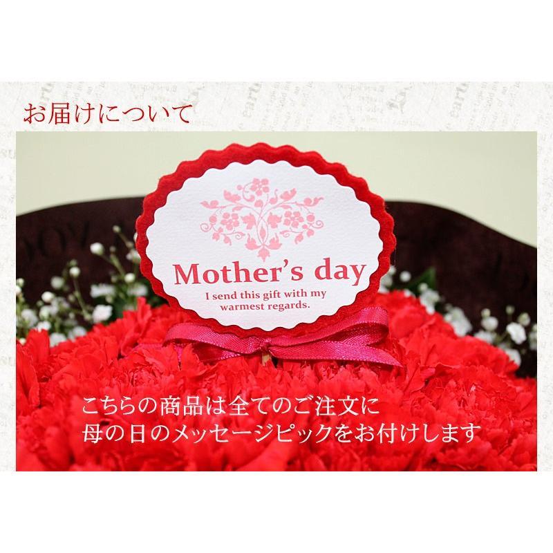 母の日 花 ギフト 母の日ギフト 母の日 花 プレゼント 定番 お洒落 花瓶が要らない花束 赤いカーネーションのスタンディングブーケ Lサイズ 36本|paravoce|07