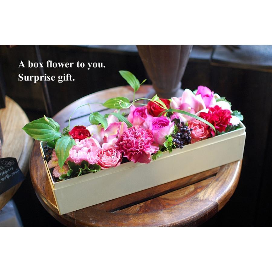 母の日 花 ギフト 誕生日プレゼント 誕生日 プレゼント フラワーボックス 出産祝い 結婚祝い 長方形 生花 アレンジメント ボックスフラワーLサイズ paravoce 02