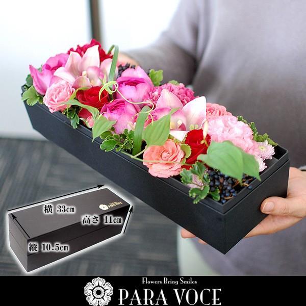 母の日 花 ギフト 誕生日プレゼント 誕生日 プレゼント フラワーボックス 出産祝い 結婚祝い 長方形 生花 アレンジメント ボックスフラワーLサイズ paravoce 05