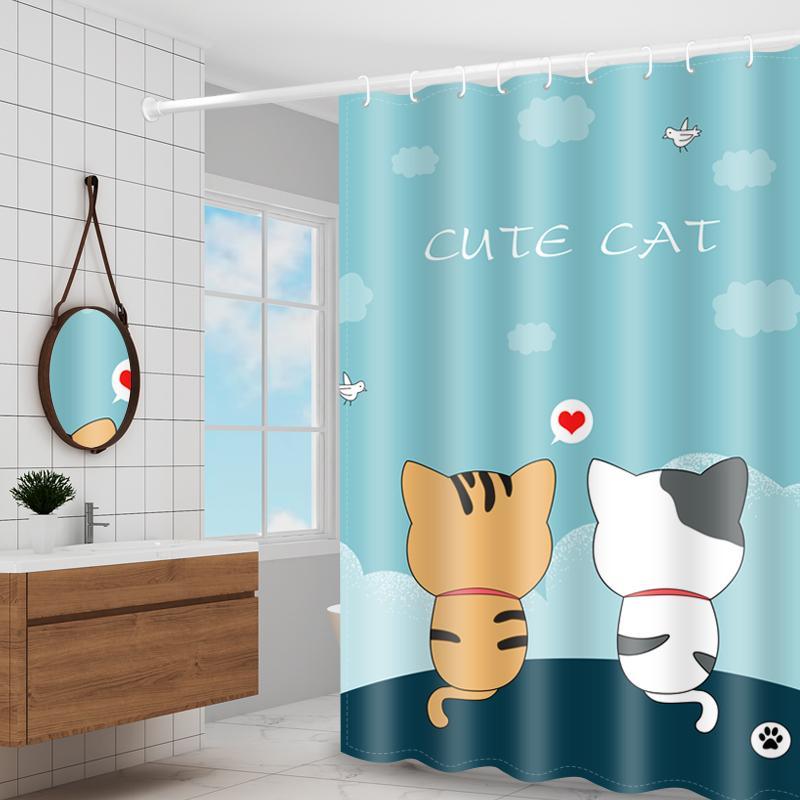 シャワーカーテン 防水 防カビ ユニットバス 浴室 高密度 速乾 バス用品 目隠し 通常便なら送料無料 加厚 リング付き お風呂カーテン 返品交換不可 加重