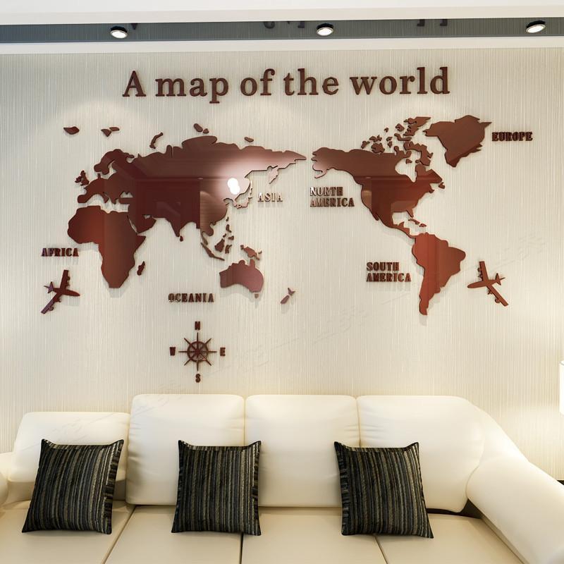 3D 世界地図 ウォールステッカー 壁紙 diy 飾り はがせる 装飾 おしゃれ シール 防水 壁 ホーム キッチン リビングルーム ベッドルーム インテリア  180cm*100cm|parisroseno2|02