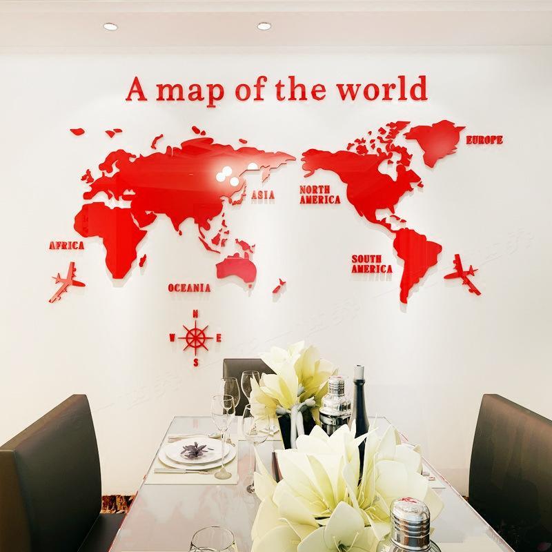 3D 世界地図 ウォールステッカー 壁紙 diy 飾り はがせる 装飾 おしゃれ シール 防水 壁 ホーム キッチン リビングルーム ベッドルーム インテリア  180cm*100cm|parisroseno2|03