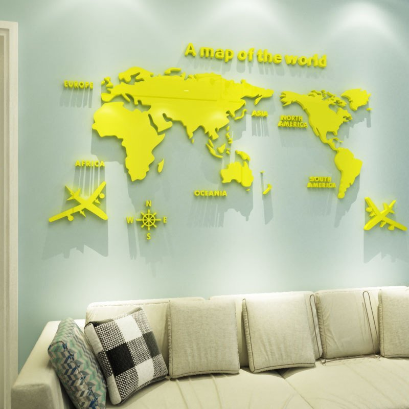 3D 世界地図 ウォールステッカー 壁紙 diy 飾り はがせる 装飾 おしゃれ シール 防水 壁 ホーム キッチン リビングルーム ベッドルーム インテリア  180cm*100cm|parisroseno2|04